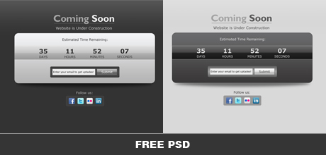 Coming Soon Free PSD